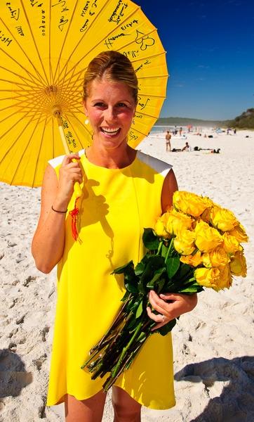 jenny in yellow