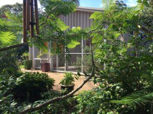 broulee yoga studio garden