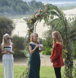 coastal festival wedding ceremony