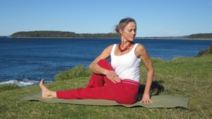 seated rotation pose
