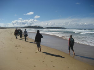 retreat beach walk spirit earth walk nsw