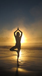 tree pose sunrise beach broulee
