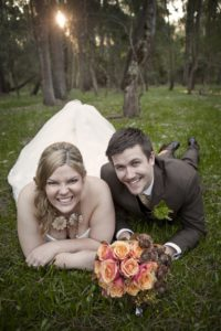 orange roses wedding