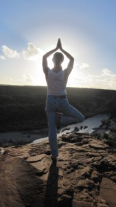 prayer pose kalbari cliff