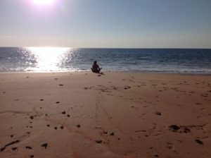 yoga sunset beach seat